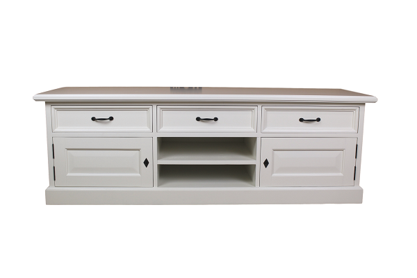 White Wash tv dressoir met lades