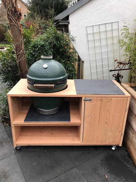 Buitenkeuken barbecue tafel douglas hout