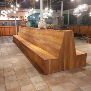 Grote houten tuinbank van steigerhout of douglashout